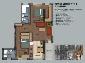 Apartament 3 camere, Sector 6, Prelungirea Ghencea