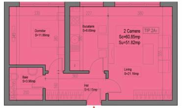 Apartament 2 camere, nemobilat, Sector 6, Lujerului - Plaza Residence