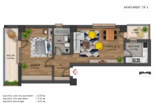 Apartament 2 camere, Sector 6, Prelungirea Ghencea - Sere
