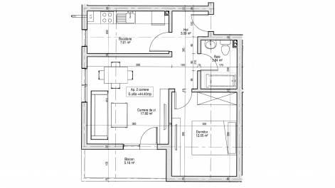 Apartament 2 camere, Dudu (Chiajna) - Militari Residence