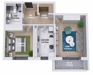 Apartament 2 camere, Sector 6, Militari - Pacii