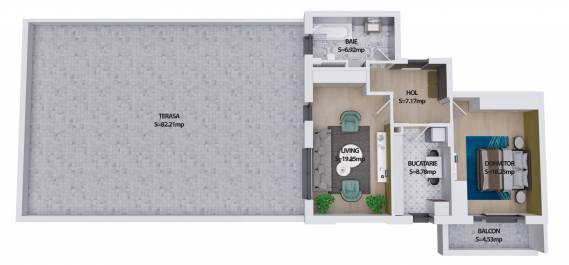 Apartament 2 camere (penthouse), Sector 6, Militari - Pacii